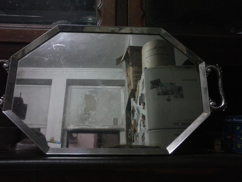 antiga bandeja espelhada