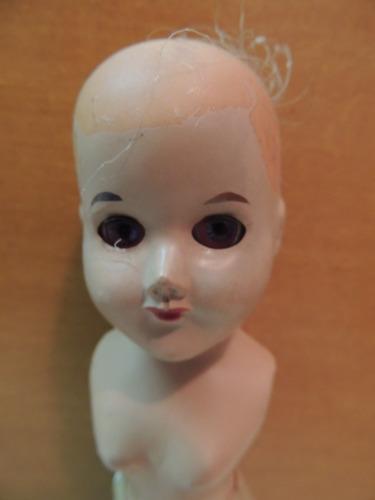 antiga boneca década 60 - coleção museu estudo restauro