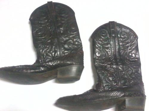 antiga bota couro jacaré - tam. 42