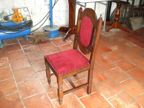 antiga cadeira em madeira de lei - colonial