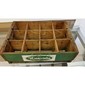 Antiga Caixa De Madeira De Refrigerante Mineirinho Raridade