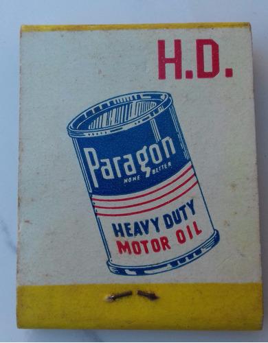 antiga caixa fósforo paralene paragon motor oil pennsylvania