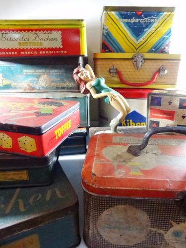 antiga caixa lata de biscoitos anos 50 aimoré duchen colombo