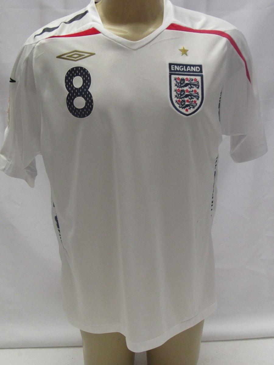 49980320c4dd0 antiga camisa futebol inglaterra  8 lampard patch euro 2008. Carregando zoom .