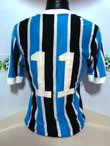 antiga camisa grêmio de jogo anos 70 -  #11 - malharia doria