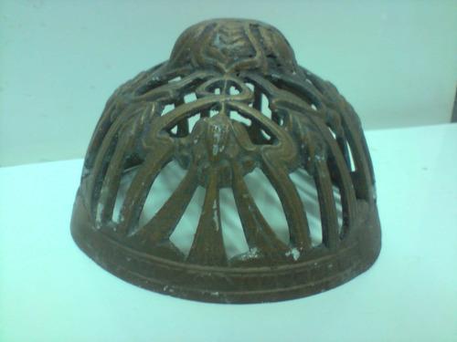 antiga canopla luminária - alumínio batido