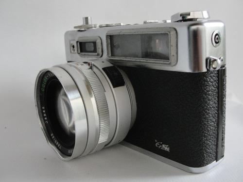 antiga câmera fotográfica electro 35 japonesa