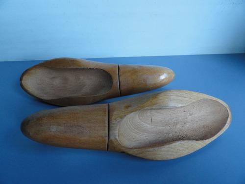 antiga e rara forma de sapato em madeira