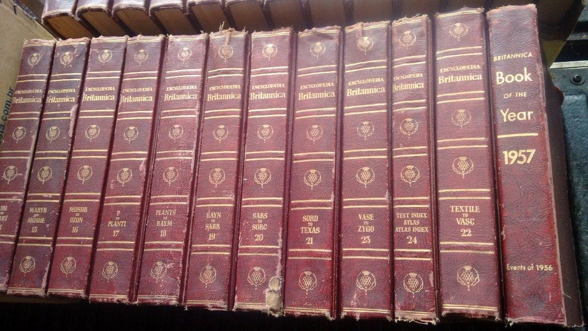 Antiga Enciclopédia Britânica. - R$ 280,00 em Mercado Livre