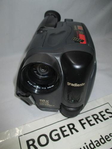 antiga filmadora gradiente videomaker vhs gcp-165cr