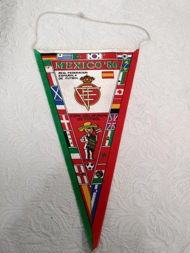 antiga flamula da copa do mundo mexico 1986