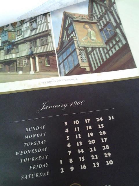 Calendario 1960.Antiga Folhinha Inglesa Calendario 1960 British Inn Signs