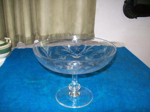 antiga fruteira de cristal lapidado