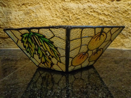 antiga fruteira em vidro -  r 1121