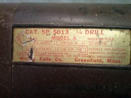 antiga furadeira eletrica millers falls made in usa