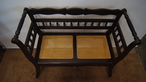 antiga namoradeira sofá 2 lugares madeira de imbuia