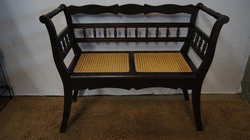 antiga namoradeira sofá telinha 2 lugares madeira de imbuia
