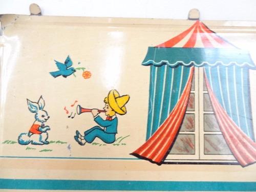 antiga parede de lata da casa de boneca da dec 50 da estrela