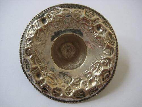 antiga peça chapéu mexicano em prata 925