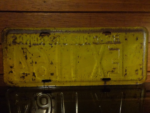 antiga placa automotiva  ba - ex 1164
