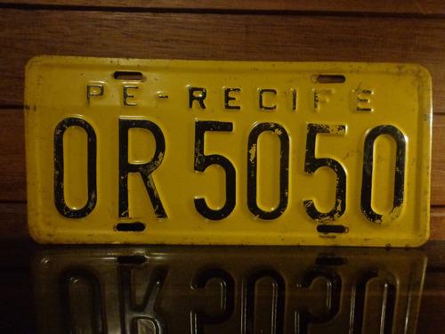 antiga placa automotiva pe - or 5050