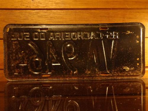 antiga placa automotiva rs - va 9464