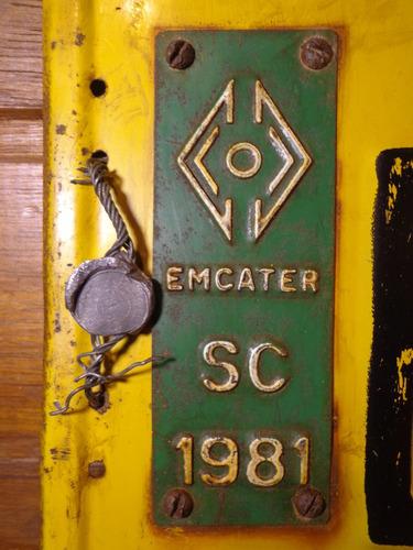 antiga placa automotiva sc - bi 0841