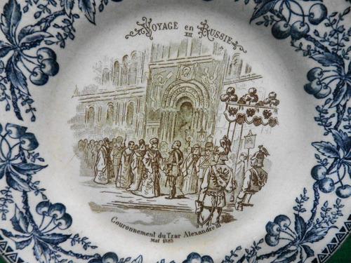 antiga prato porcelana