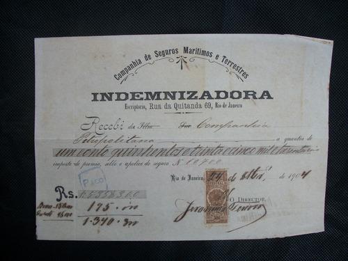 antiga promissória de seguro 1904