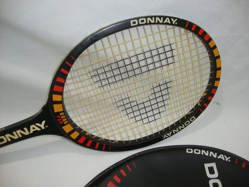 antiga raquete tenis madeira donnay década de 70 raqdon01