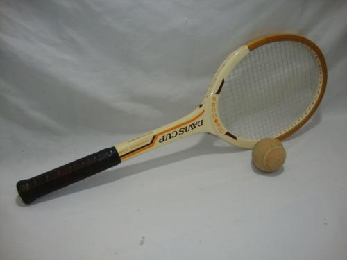 antiga raquete tenis procopio davis cup anos 70 + 1 bolinha