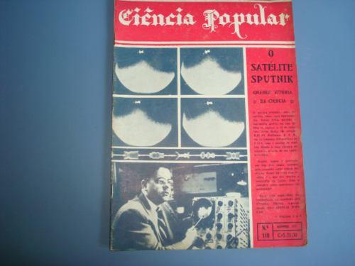 antiga revista ciencia popular nº 110 novembro de 1957