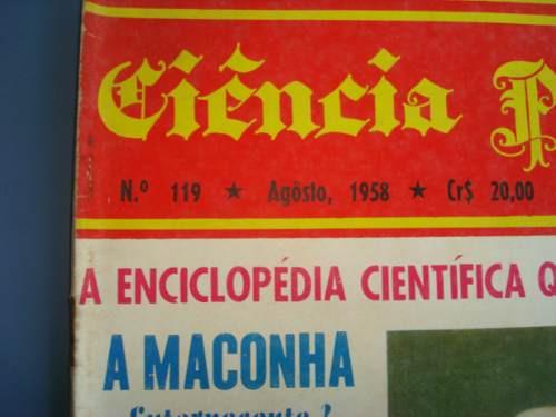 antiga revista ciencia popular nº 119 agosto de 1958