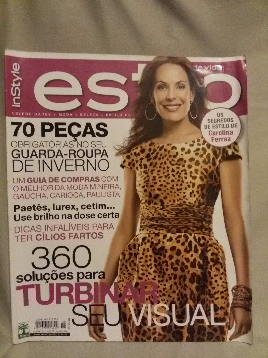 0d4f1f556406d Antiga Revista Estilo De Vida- Capa Carolina Ferraz- Nº3828g - R  23,00 em  Mercado Livre