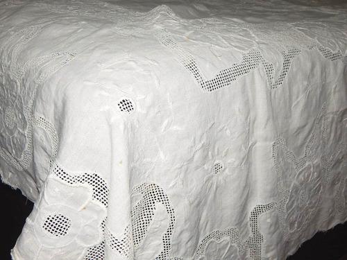 antiga toalha bela renda labirinto em linho branco