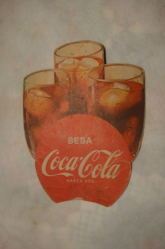 antiga ventarola abanador coca-cola anos 50