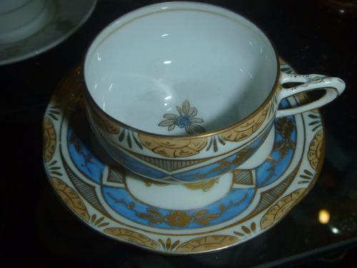 antiga xicara alemã, em porcelana , estilo art nouveau,
