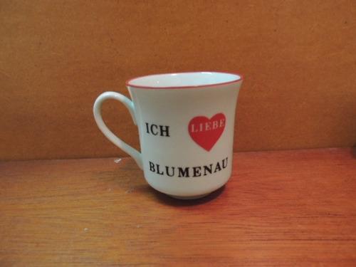 antiga xícara café ich liebe blumenau porcelana schmidt