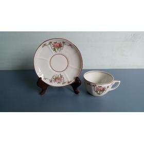Antiga Xícara De Chá Em Porcelana Schmidt Década De 50