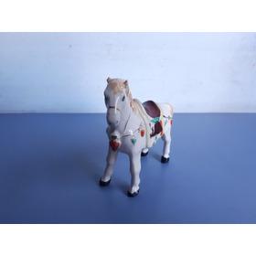 Antigo Belo Bibelô Estilo Cavalo Em Porcelana