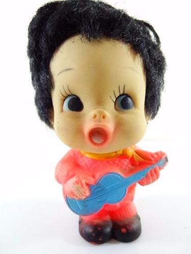 antigo boneco musico estrela jovem guarda dec 60 guitarrista