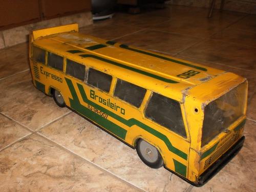 antigo brinquedo da decada de 80, onibus bandeirante