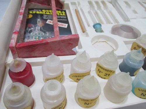 antigo brinquedo laboratorio quimica experimental guaporé 70