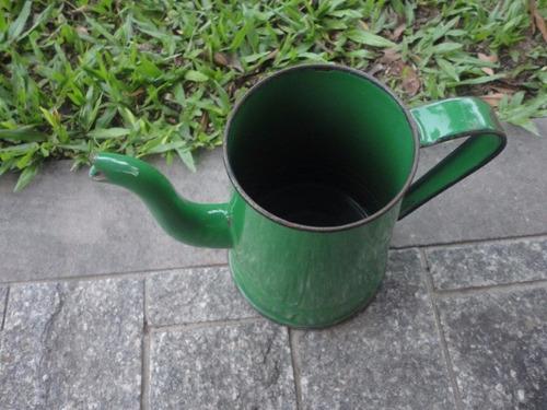 antigo bule verde esmaltado