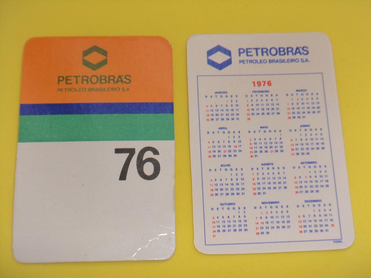 Calendario 1976.Antigo Calendario 1976 De Bolso Petrobras