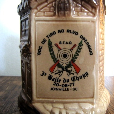 antigo caneco de chop decorativo porcelana #2373