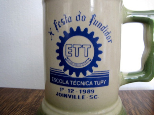 antigo caneco de chop decorativo porcelana #2393