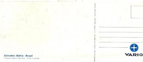 antigo cartão postal salvador bahia - varig