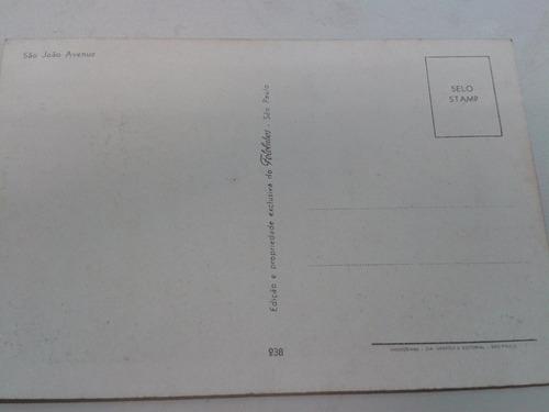 antigo cartão postal - são paulo, av. são joão