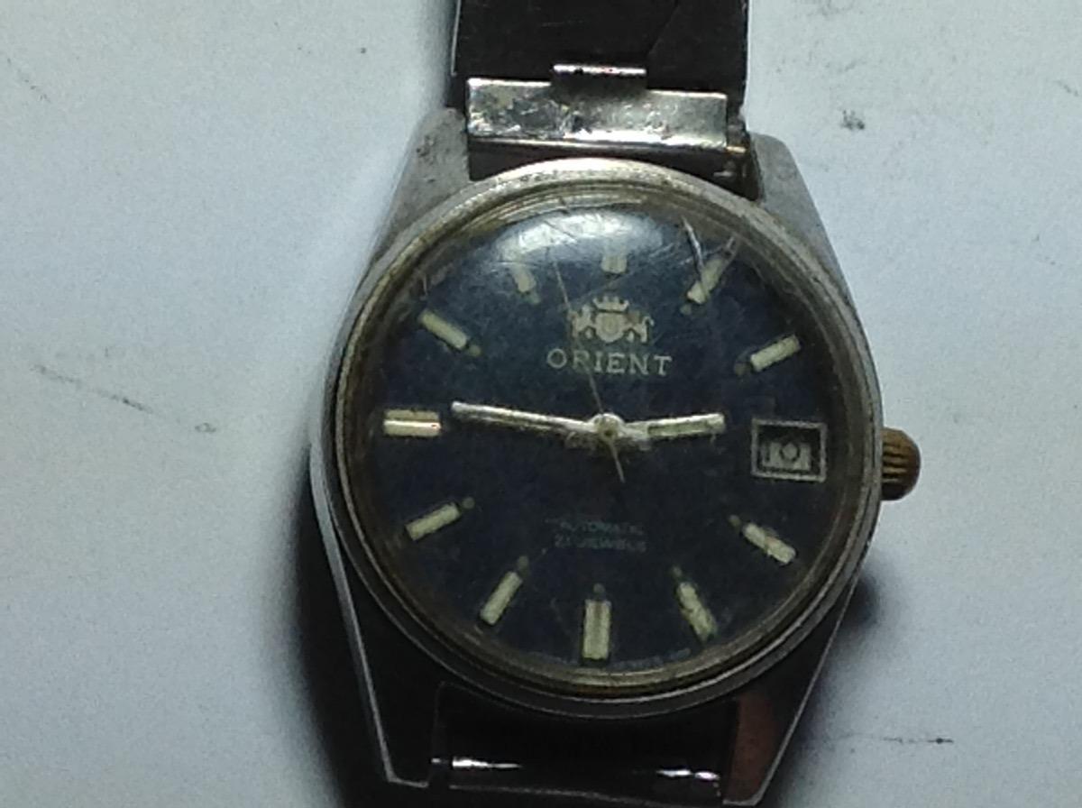 e6ceec854a4 Carregando zoom... relógio de pulso antigo de coleção automatic orient